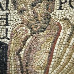 Roman Mosaic of a Greek Philosopher (Detail)