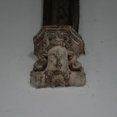 Stone Corbel-Head Below Nave Roof