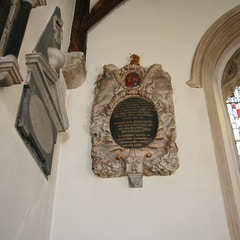 Memorials at West End of South Aisle