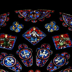 North Rose Window (1230): Kings and Prophets