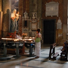 Shrine to Virgin Mary in One of Many Rome Basilicas Dedicated to Her