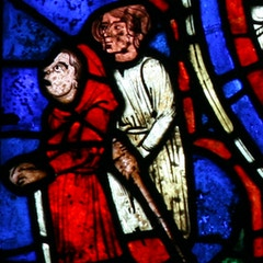 Zodiac Window (c.1220): Men Watching Bellringer