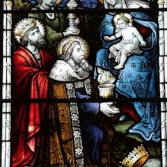 Detail of Three Magi in West Window