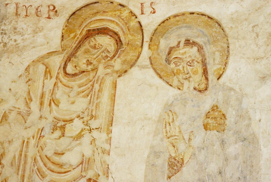 Fresco (c.1180): The Empty Tomb
