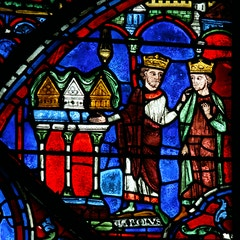 Charlemagne Window: Gift of Relics