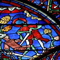 Charlemagne Window: Roland Kills a King