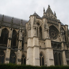 Cathedral in Reims (the side view)