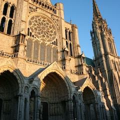 North Transept (c.1230) at Sunset