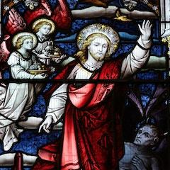 Detail of Christ in West Window