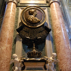 Monument to Queen Christina of Sweden (d.1689)
