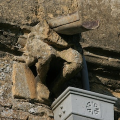 Half-Disappeared Gargoyle on South Exterior