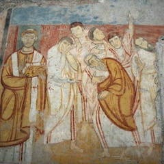 Fresco: Pope Leo IV and Apostles