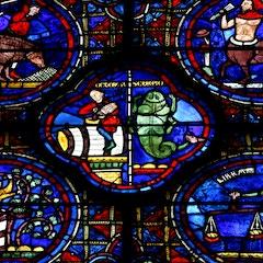 Zodiac Window (c.1220): Detail