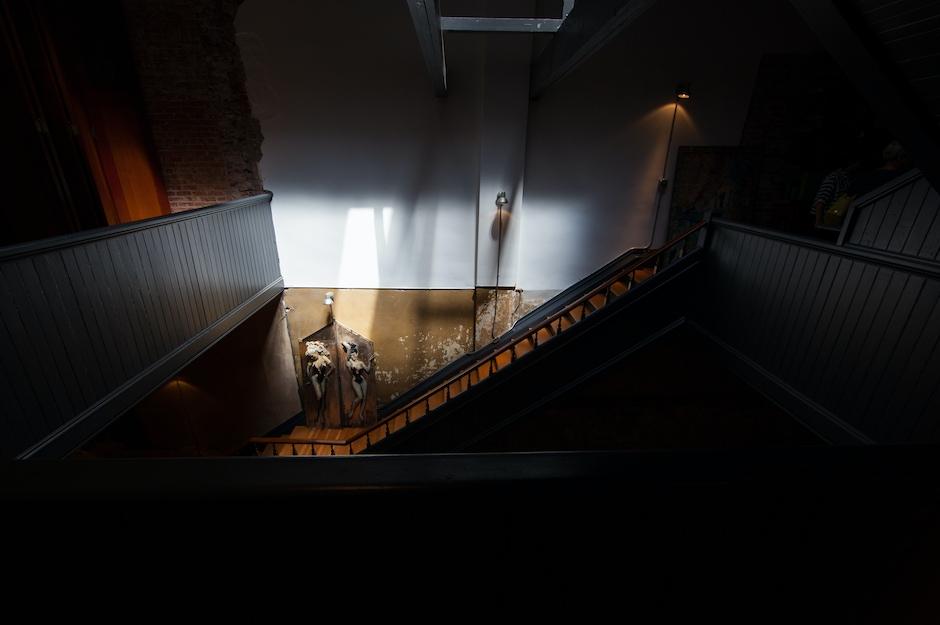 Stairs with Vintage Doors