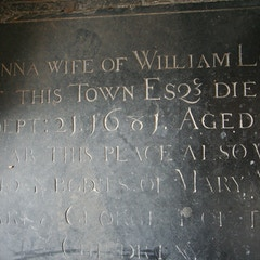Memorial in Nave Aisle