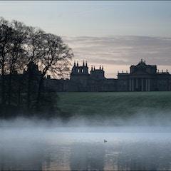 Blenheim Palace at dawn