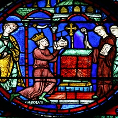 Charlemagne Window: Relics Brought to Aachen
