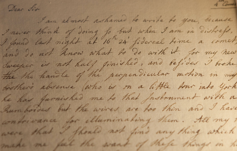 Letter from William Herschel