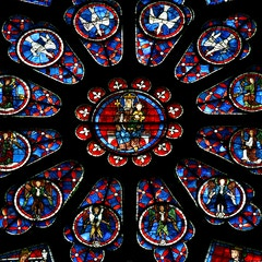 North Rose Window (1230): Center of the Rose