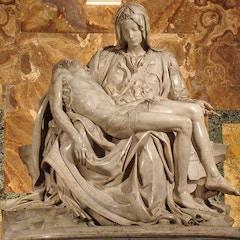 La Pietà de Michelangelo. Vaticano.