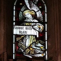 Detail of Angel in Upper West Window