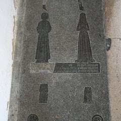 Brass Memorial in Chancel Floor