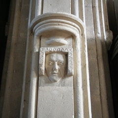 Sculptured Head Between Nave and South Aisle
