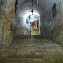 Jerusalem - Church of the Holy Sepulchre - The 29 Steps of Chapel of St. Helen