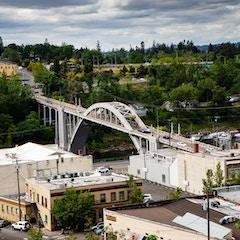 Arch Bridge from Above (Oregon City, Oregon)