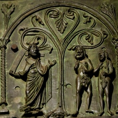 Bronze Door: God Confronts Adam and Eve