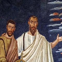Apse Mosaic: Left Side Detail