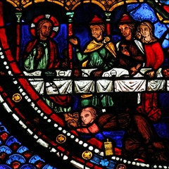 Mary Magdalene Window: 4: Mary Magdalene Anoints Jesus' Feet