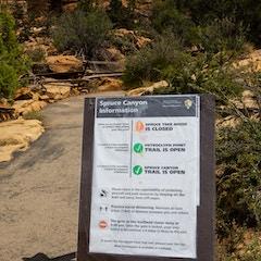 Spruce Canyon Information Sign (Mesa Verde NP, Colorado)
