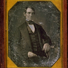 [Abraham Lincoln, Congressman-elect from Illinois. Three-quarter length portrait, seated, facing fro