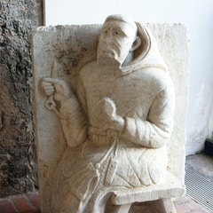 St. Francis of Assisi (medieval sculpture, Anagni Cathedral, Italy)
