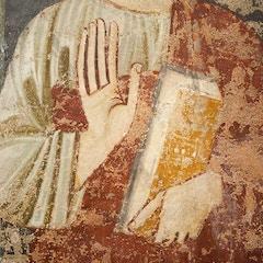 Choir Screen Fresco: St. Peter's Hands