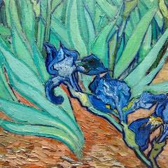 Irises (1889) by Vincent van Gogh: Detail