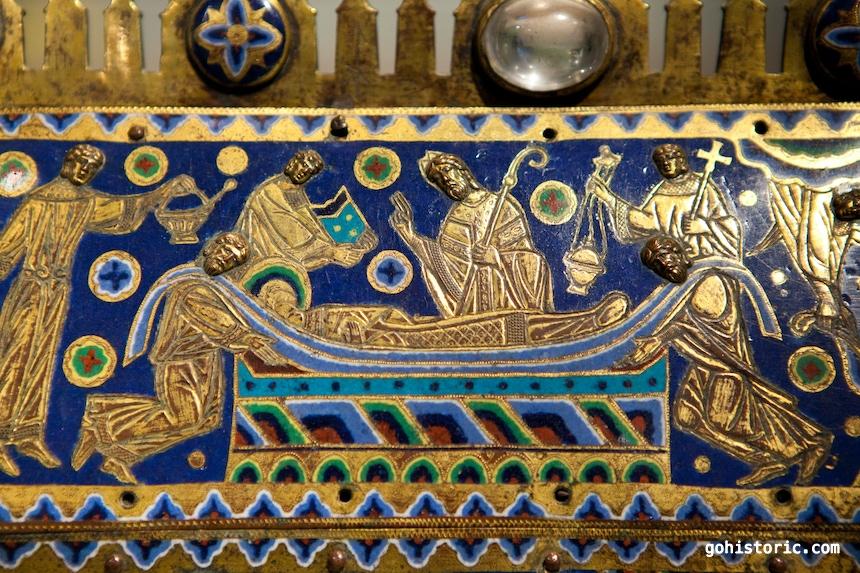 Becket Casket (c. 1180): Entombment
