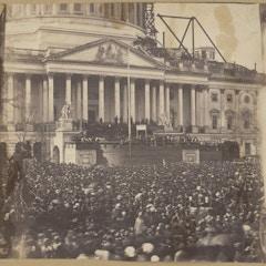 Inauguration of Mr. Lincoln, March 4, 1861 (LOC)