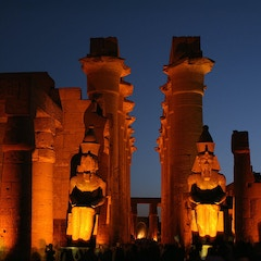 Colossi and Corridor by Night