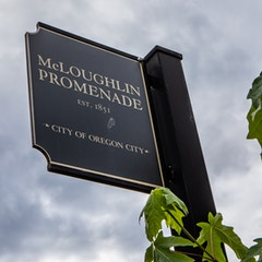 McLoughlin Promenade Sign (Oregon City, Oregon)