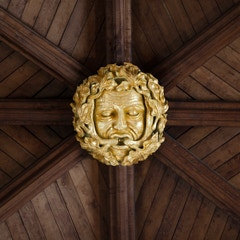 Selby Abbey Roof Boss: Green Man