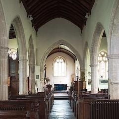 Church of St John the Baptist, Churchill -  the nave