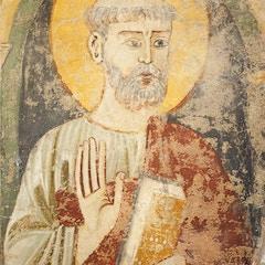 Choir Screen Fresco: St. Peter