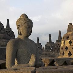 Statue and Stupas