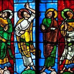 Window XVI: Apostles at the Ascension