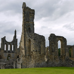 The ruins of Byland Abbey