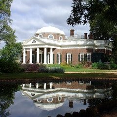 Monticello with Fish Pond
