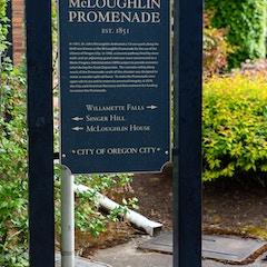 McLoughlin Promenade Historical Marker (Oregon City, Oregon)