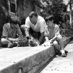 Hemingway and Sons in Cuba (1946)